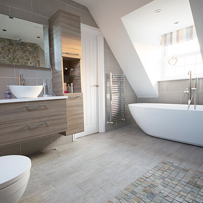 loft conversion bathroom - en-suite
