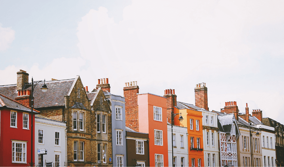 Painted terrace houses