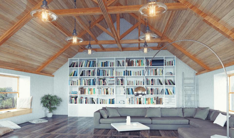 loft conversion with lighting