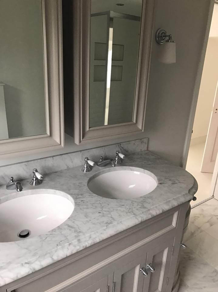 Bathroom Conversion With Double Sink