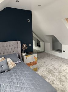 Attic Room With Grey Carpet