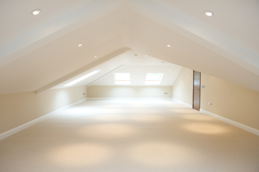 Large empty loft room open space