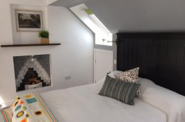 Bedroom conversion with bed made up