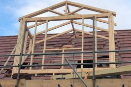Wooden frame for dormer conversion