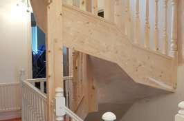 Staircase installation above existing one