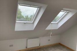 Skirting board installed in velux loft conversion