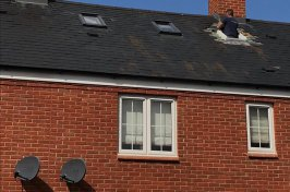 Man working on roof of new loft conversion