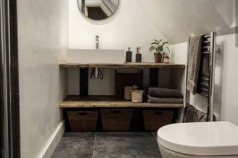 Modern bathroom with storage