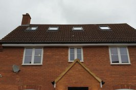 Detached house with dormer conversion
