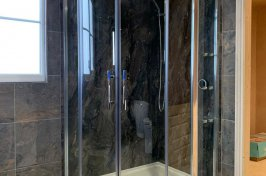 Walk in shower in bathroom conversion